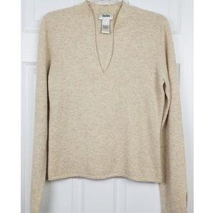 Neiman Marcus 100% cashmere long sleeve women top